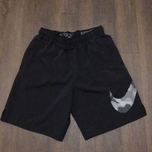 Nike Men's Running Shorts Black Dri-Fit Size M